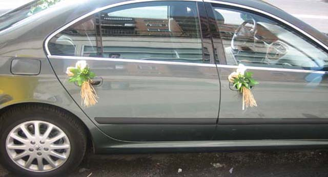 decoracion coche boda allium floristas