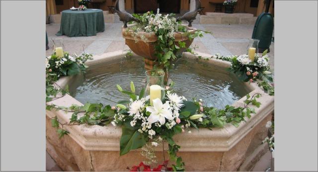 Decoracion bodas de oro allium floristas - Decoracion para bodas de plata ...