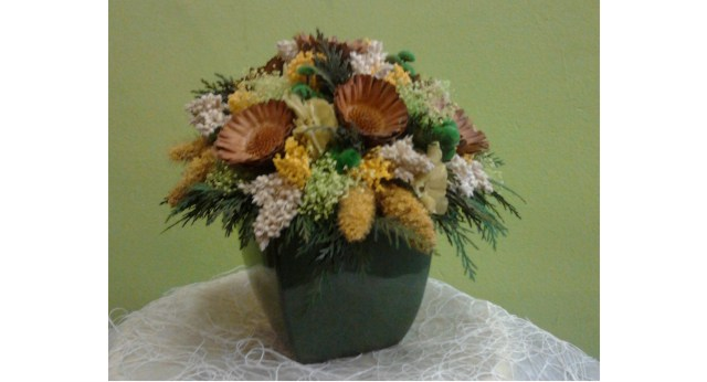 Adornos flores secas cuadros realizado con flores secas - Flores secas para decorar ...